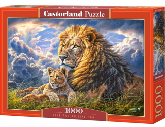 Puzzle 1000 dílků - Dva lvy - jaký otec, takový syn
