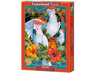 Puzzle 1500 dílků- Bílí papoušci