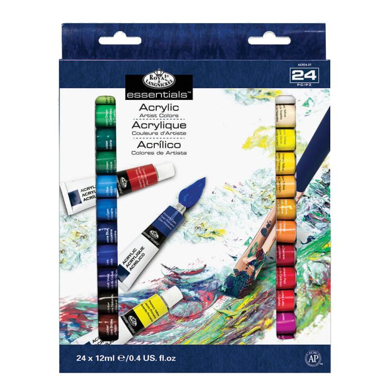 ROYAL and LANGNICKEL Akrylové barvy 24 ks á 12 ml