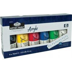 ROYAL and LANGNICKEL Akrylové barvy 6 ks á 75 ml