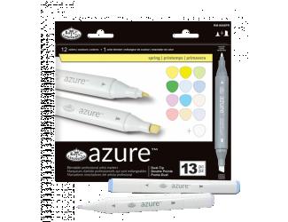 Grafické fixy - Royal Jarní barvy - 12 ks grafických fixů + 1 ks blender
