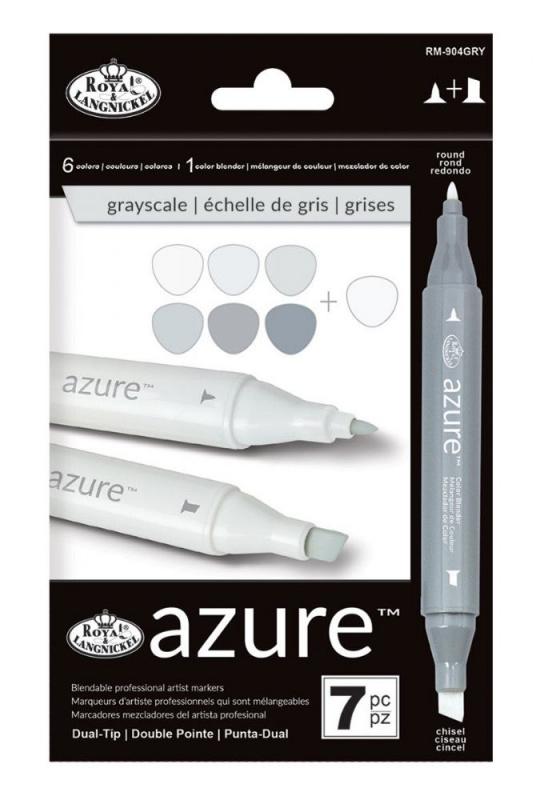 """Grafické fixy - Royal barvy šedivé odstíny """"grayscale"""""""