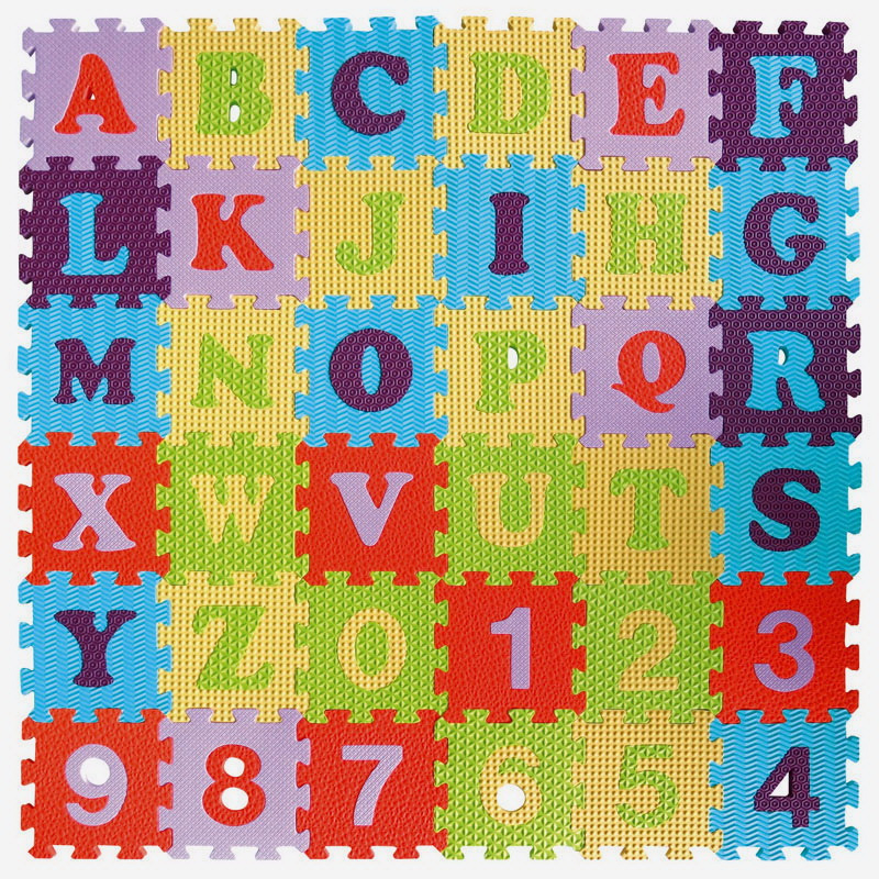 Pěnové puzzle 36 ks 15x15x1cm, abceda