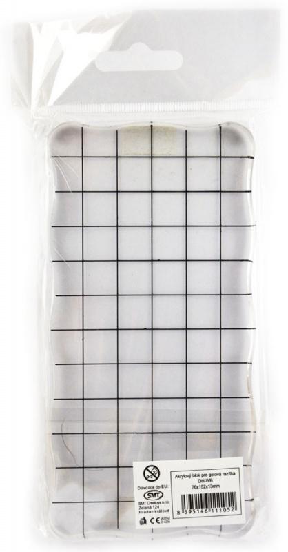 Akrylový blok s mřížkou 76 x 152 x 13 mm