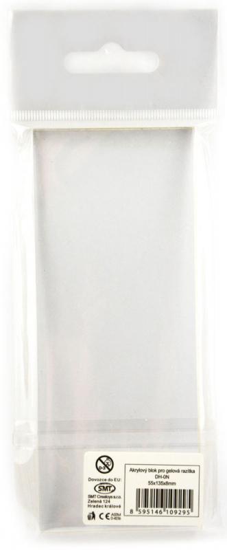 Akrylový blok 5,5x13,5x0,8 cm