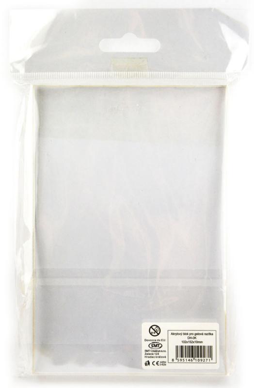 Akrylový blok 10,2x15,2x1 cm
