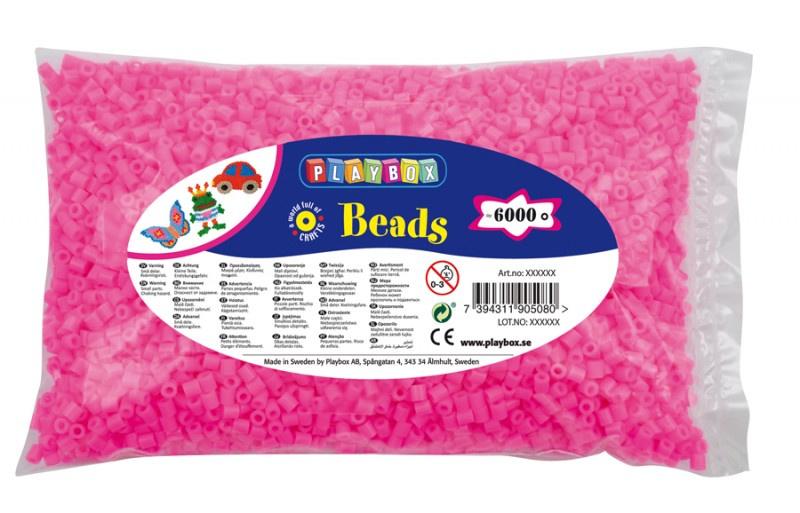 Zažehlovací korálky - 6 000 ks - růžové