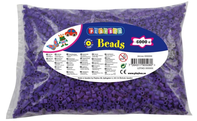 Zažehlovací korálky - 6 000 ks - fialové