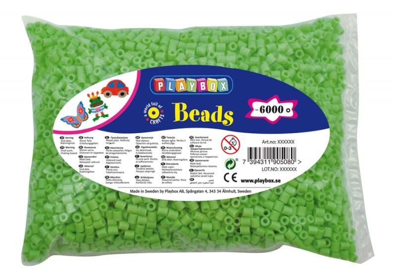 Zažehlovací korálky - 6 000 ks - sv. zelené