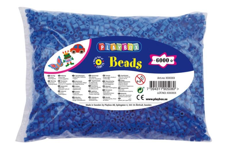 Zažehlovací korálky - 6 000 ks - modré