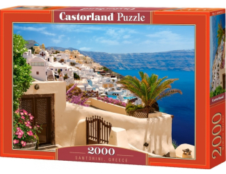 Puzzle 2000 dílků- Santorini, Řecko