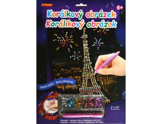 Korálkový obrázek - Eiffelova věž