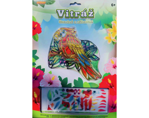 Vitráž -papoušek
