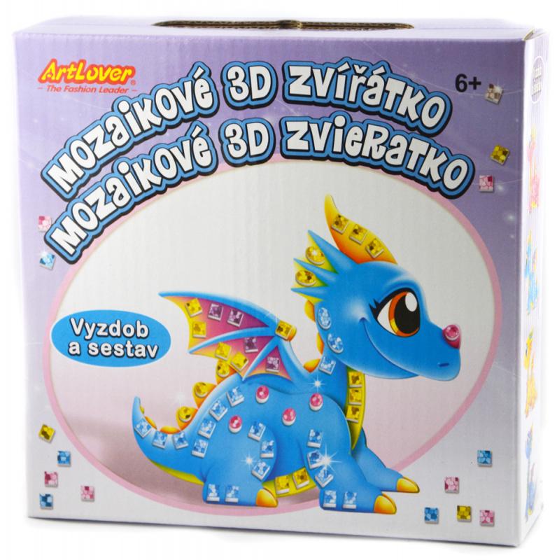 4x Mozaiková 3D zvířátka draci