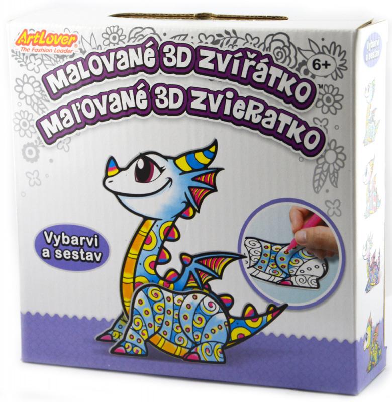 4 x Malované 3D zvířátko - draci