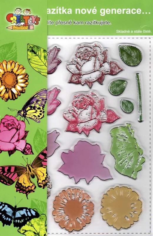 Gelová razítka - Květy