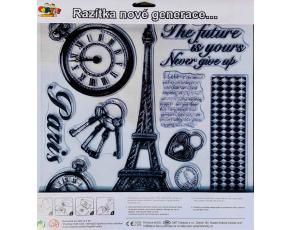 Razítka na stěnu 30x 30cm -Eiffelova věž