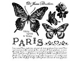 Razítka na stěnu 30x30 cm - Motýli