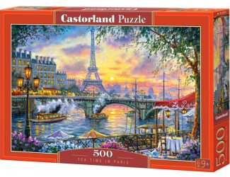 Puzzle 500 dílků- Čas na čaj pod Eiffelovkou