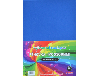 Pěnovka modrá, 10 ks, A4 - cca 2 mm