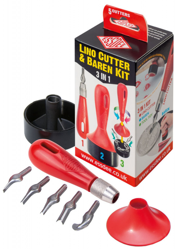 Sada pro linoryt 3v1 - 5 různých nožů