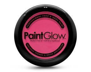 Barva na obličej PAINT GLOW růžová v pudřence se zrcátkem, houbičkou a štětcem
