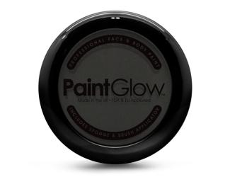 Barva na obličej PAINT GLOW černá v pudřence se zrcátkem, houbičkou a štětcem