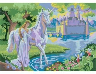 Malování podle čísel - Pohádkový zámek