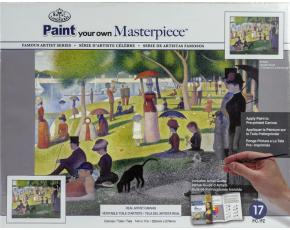 Malířské plátno Royal Langnickel - Nedělní odpoledne na ostrově Grande Jatte, Georges Seurat