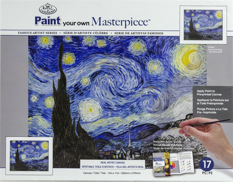 Malířské plátno Royal Langnickel - Hvězdná noc, Vincent van Gogh
