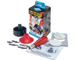 Sada pro linoryt 3v1- 5 různých nožů a 2 samolepící lina.