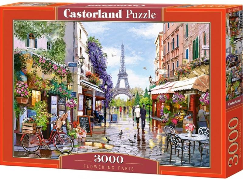 Puzzle Castorland 3000 dílků - Květinová Paříž