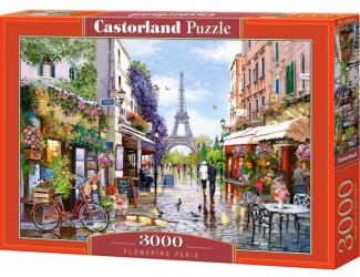 Puzzle 3000 dílků - Květinová Paříž
