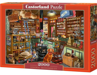 Puzzle Castorland 2000 dílků- Pejsek v obchodě