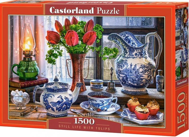 Puzzle Castorland 1500 dílků - Zátiší s tulipány