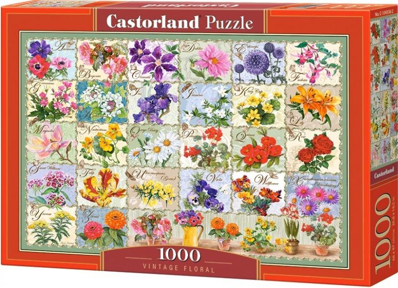 Puzzle Castorland 1000 dílků - Herbář květin
