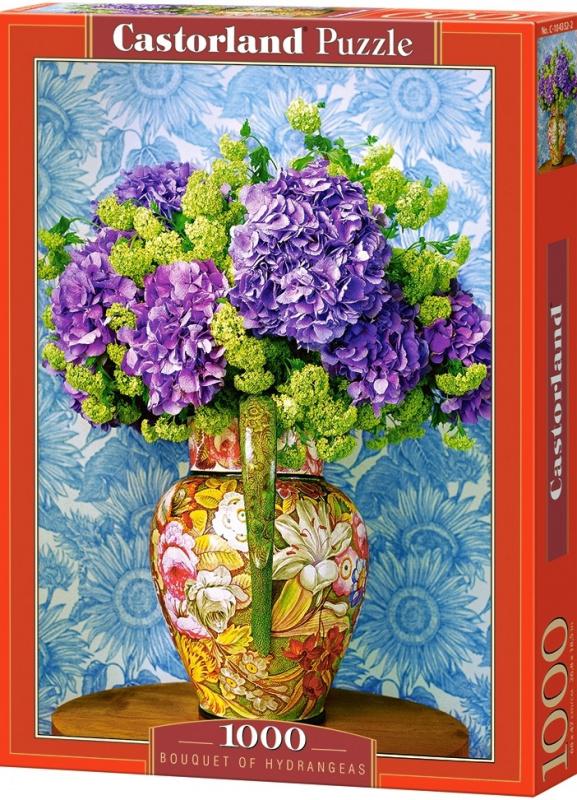 Puzzle Castorland 1000 dílků - Kytice hortenzií