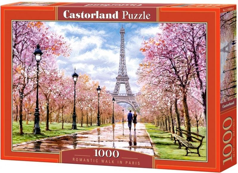 Puzzle Castorland 1000 dílků - Romantická procházka v Paříži