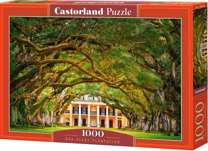 """Puzzle Castorland 1000 dílků - Průchod pod stromy (""""Oak Alley Plantation"""")"""