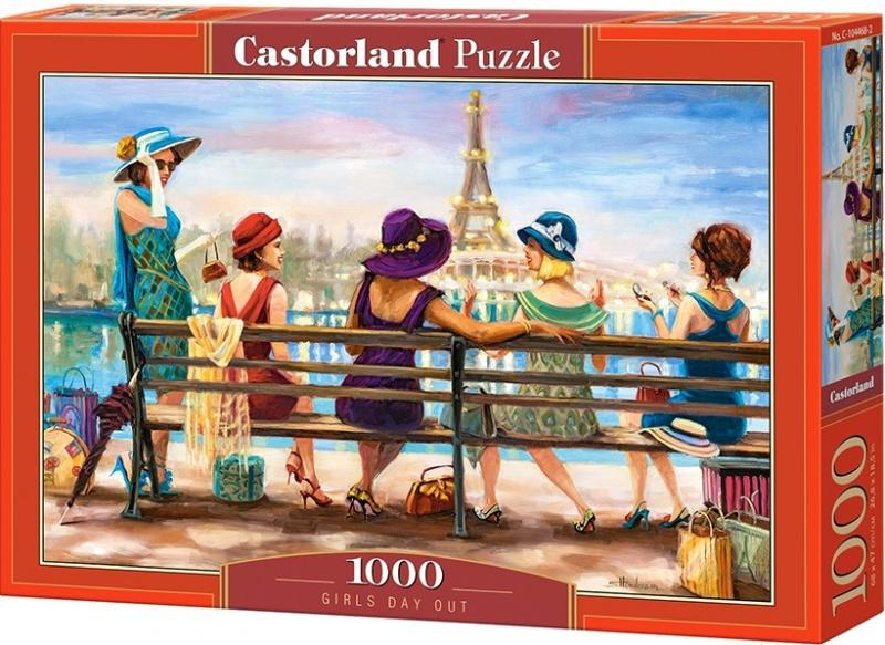 Puzzle Castorland 1000 dílků - Dívčí den na lavičce
