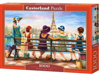 Puzzle 1000 dílků - Dívčí den na lavičce