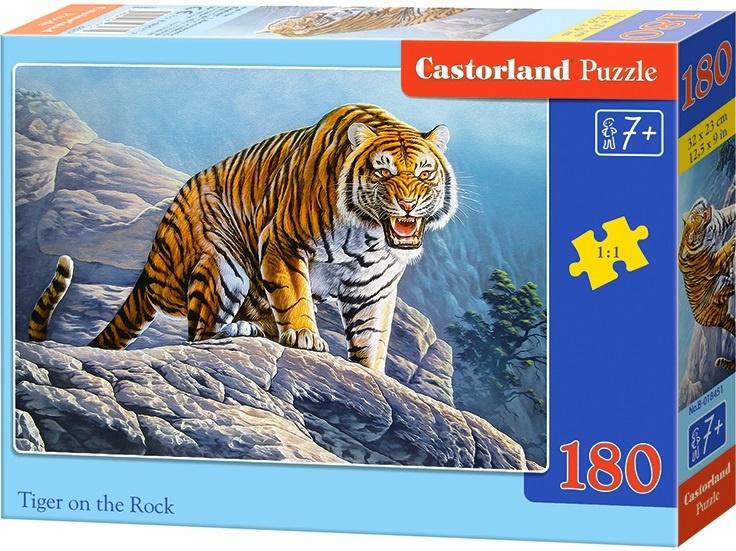 Puzzle Castorland 180 dílků - Tygr na skále