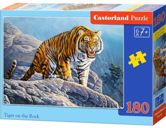 Puzzle 180 dílků - Tygr na skále