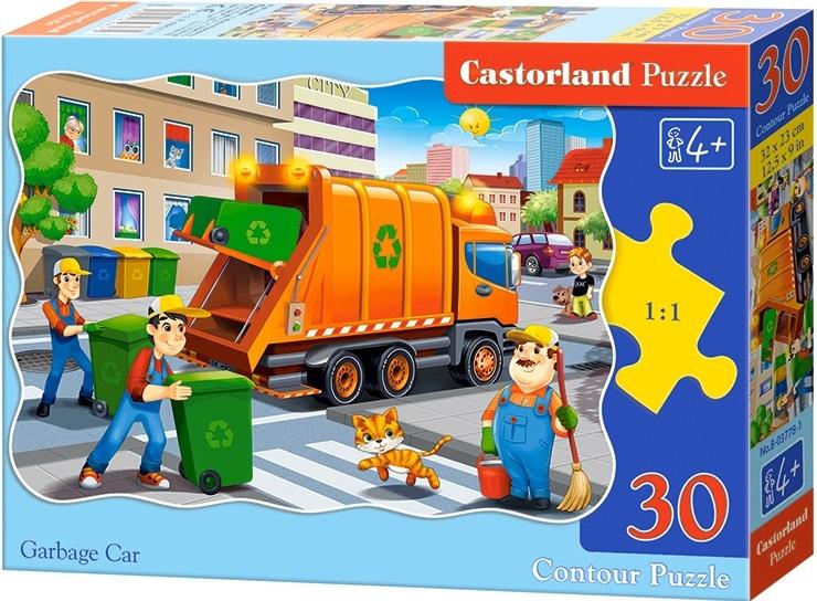 Puzzle Castorland 30 dílků - Popelářské auto
