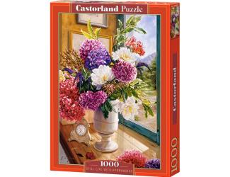 Puzzle 1000 dílků - Zátiší s kyticí hortenzii