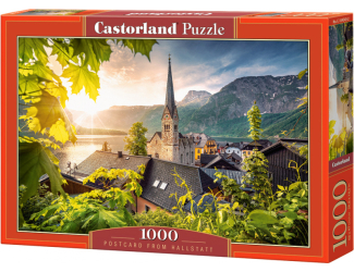 Puzzle 1000 dílků - Pohled z Hallstattu