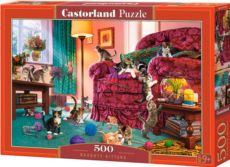 Puzzle Castorland 500 dílků - Zlobivá koťata