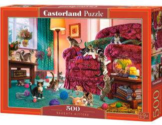 Puzzle 500 dílků - Zlobivá koťata