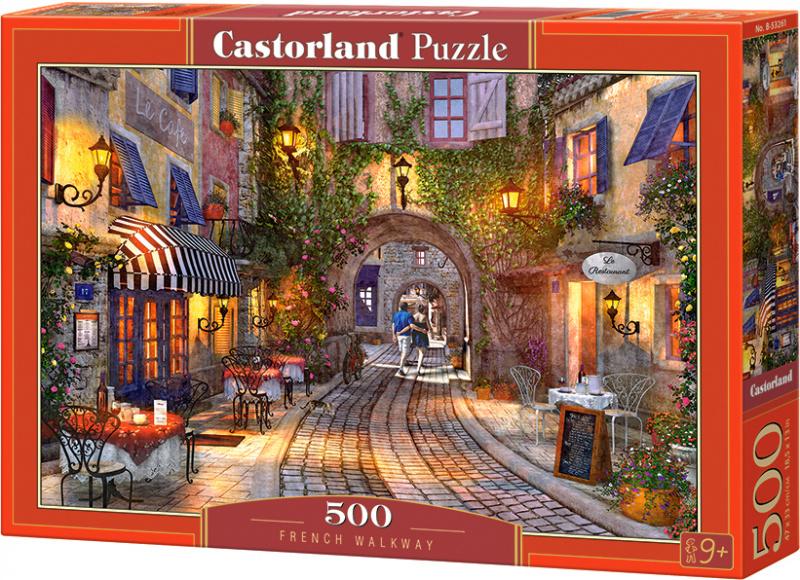 Puzzle Castorland 500 dílků - Francouzský chodník