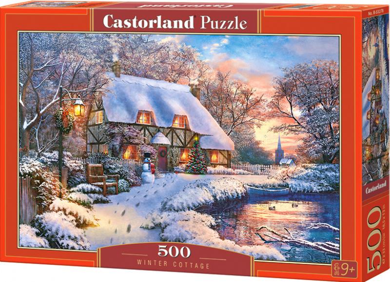 Puzzle Castorland 500 dílků - Chatička v zimě